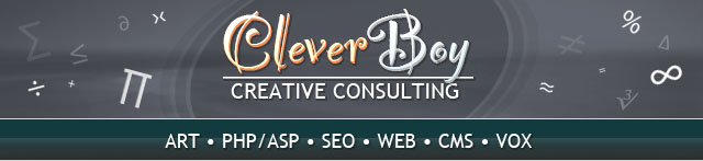 CleverBoy Creative Consulting - ART · PHP/ASP · SEO · WEB · CMS · VOX